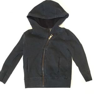 Boys 2T washed black zip jacket